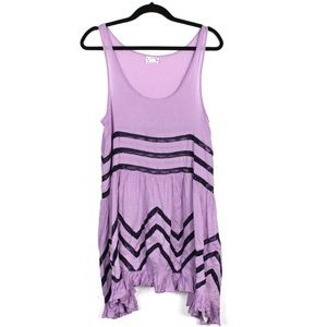 Free People M New Voile and Lace Trapeze Slip